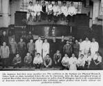 Group photo of Japanese scientists at the Institute for Physical Research, Tokyo