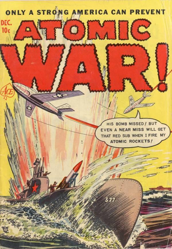 "Cover of ""Atomic War!"" comic book"
