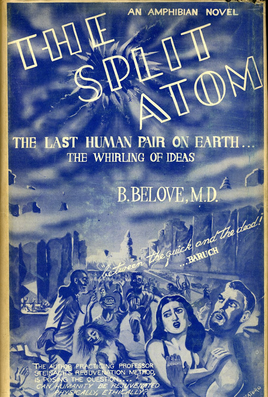 "Cover of ""The Split Atom,"" by B. Belove."
