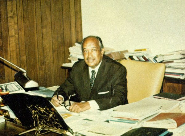 Herman Branson In His Office Lincoln University Of