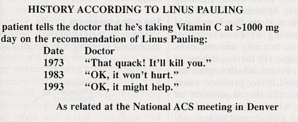 """History According to Linus Pauling"""