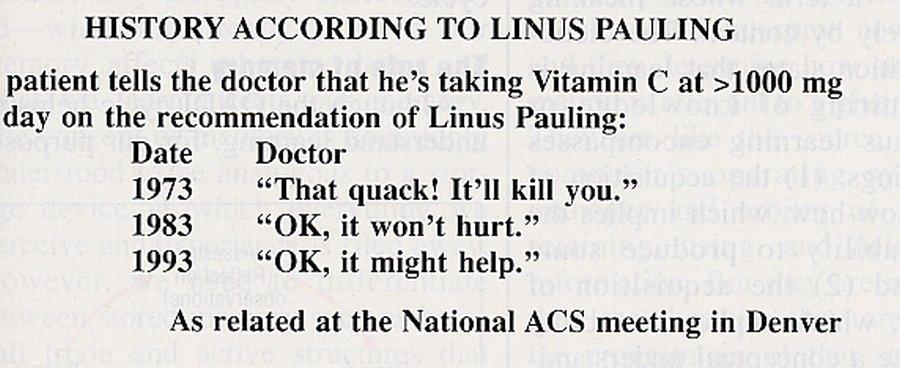 """History According to Linus Pauling"""