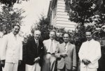 Samuel Goudsmit, Clarence Yoakum, Enrico Fermi, Werner Heisenberg and John D. Kraus.