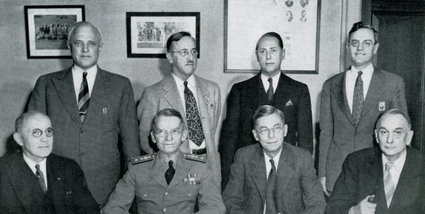 Group photograph of the National Defense Research Committee membership.