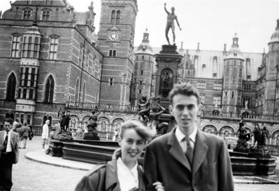 James Watson with his sister Betty, Copenhagen, Denmark.