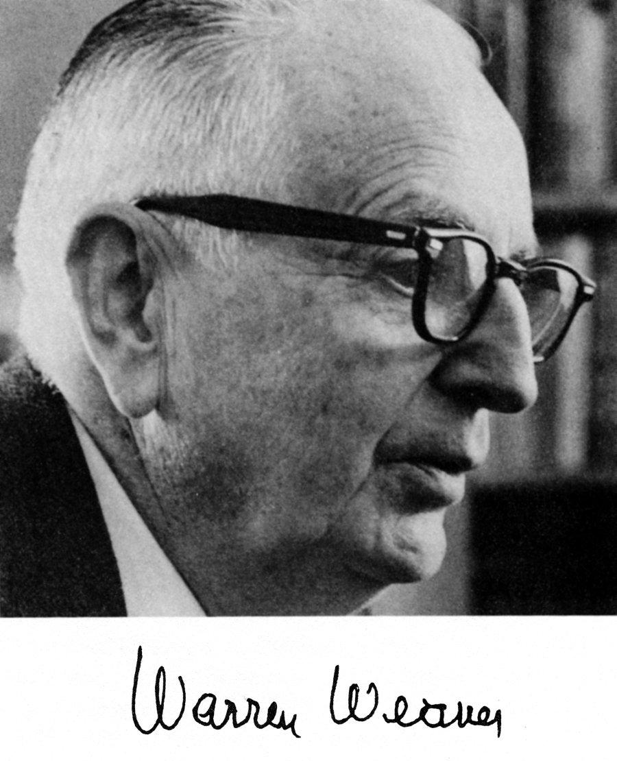 Portrait of Warren Weaver