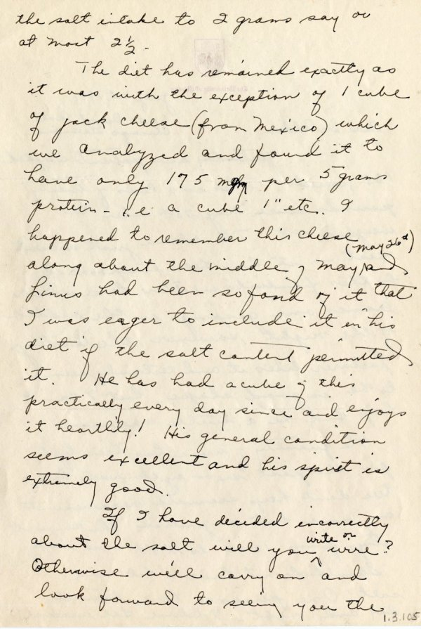 Letter from Ava Helen Pauling to Thomas Addis.Page 2. July 1, 1941