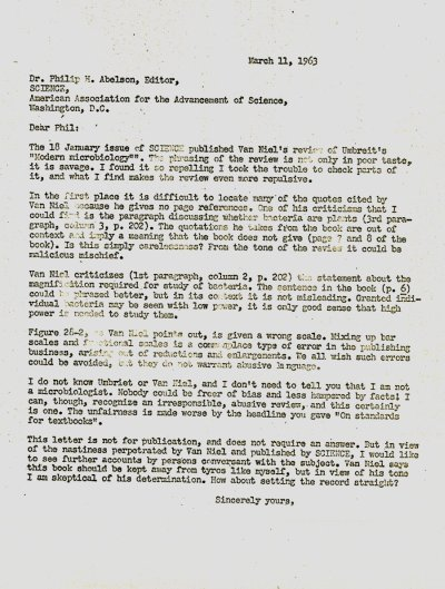 Letter from Linus Pauling to Philip HaugePage 1. March 11, 1963