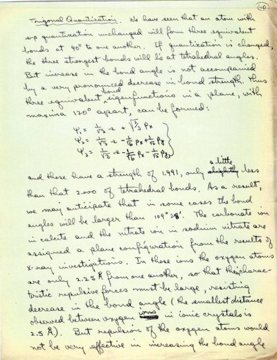 """""""The Nature of the Chemical Bond: The Application of Results Obtained from the Quantum Mechanics and from a New Theory of Paramagnetic Susceptibility to the Structure of Molecules.""""Page 40. 1931"""