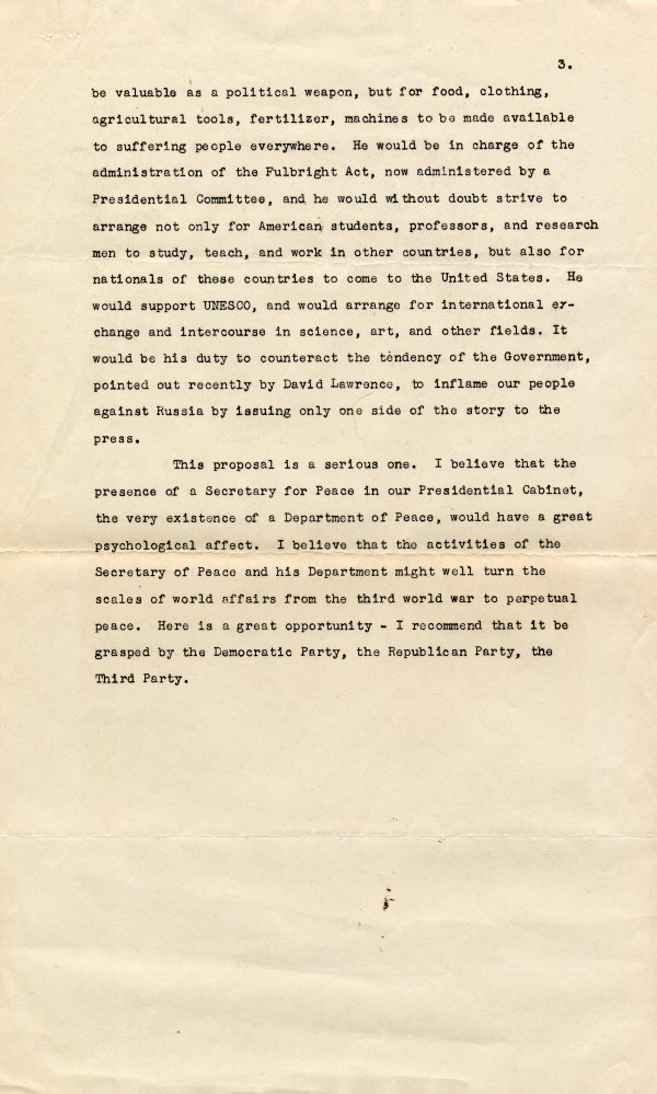 No Title [re: social activism by scientists]. Page 3. December 14, 1947