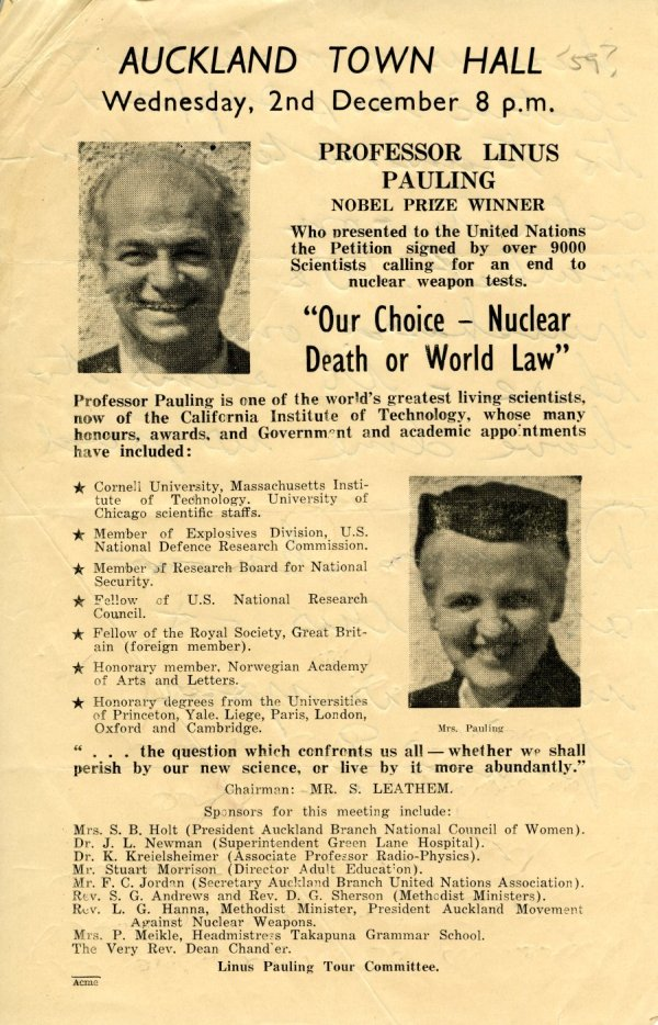 """Our Choice - Nuclear Death or World Law."" Program - Page 1. December 2, 1959"