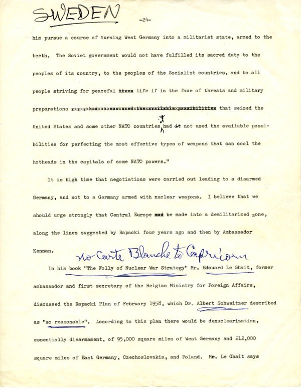 Manuscript Notes re: Nations and Morality; Armament for Peace.Page 3. December 19, 1963