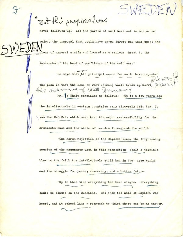 Manuscript Notes re: Nations and Morality; Armament for Peace.Page 4. December 19, 1963