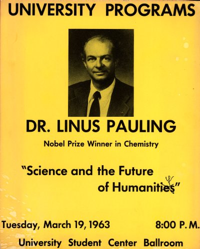 "Flyer: ""Science and the Future of Humanity."" Page 1. March 19, 1963"