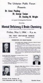 """""""Mental Deficiency & Brain Chemistry."""""""