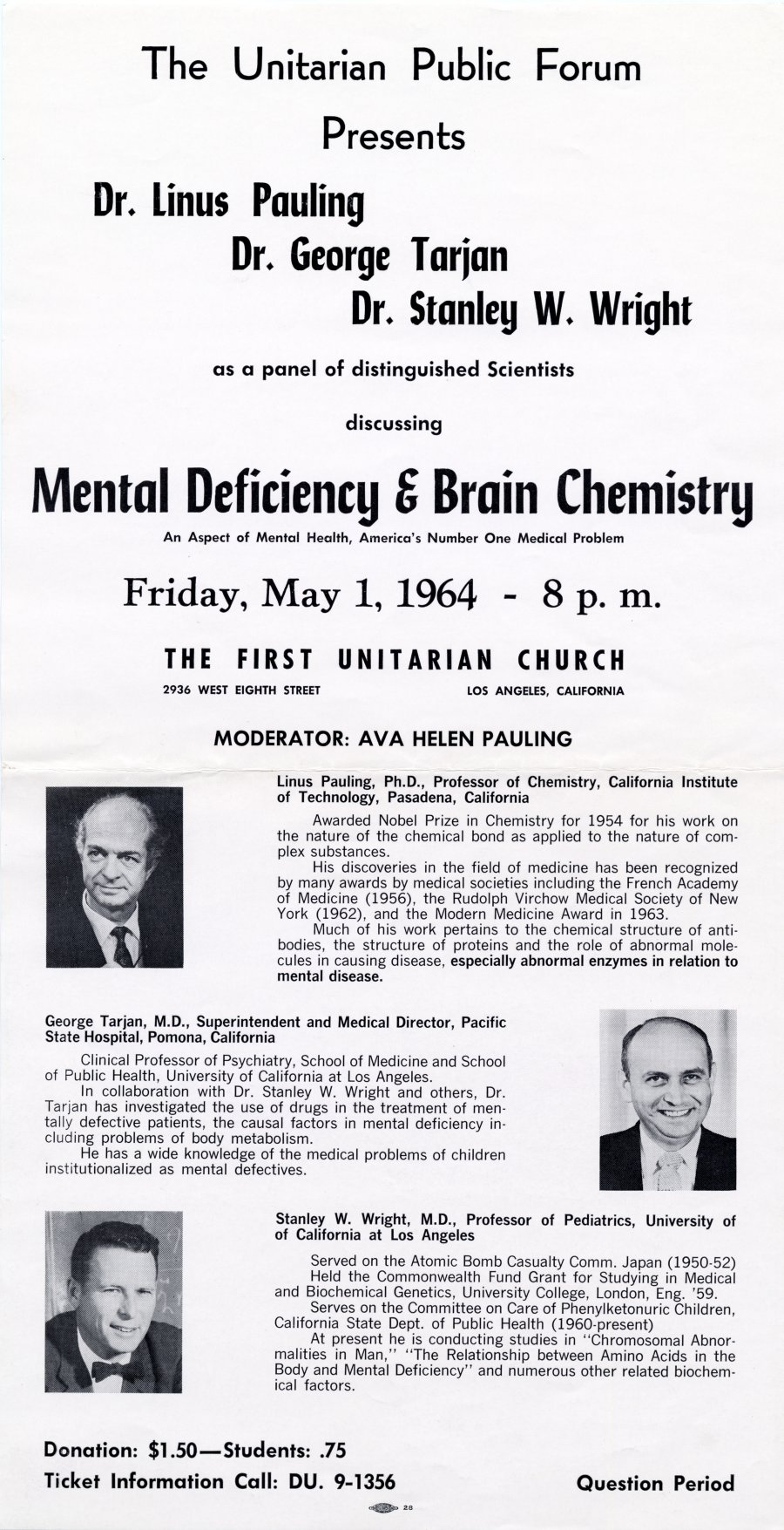 """Mental Deficiency & Brain Chemistry."""