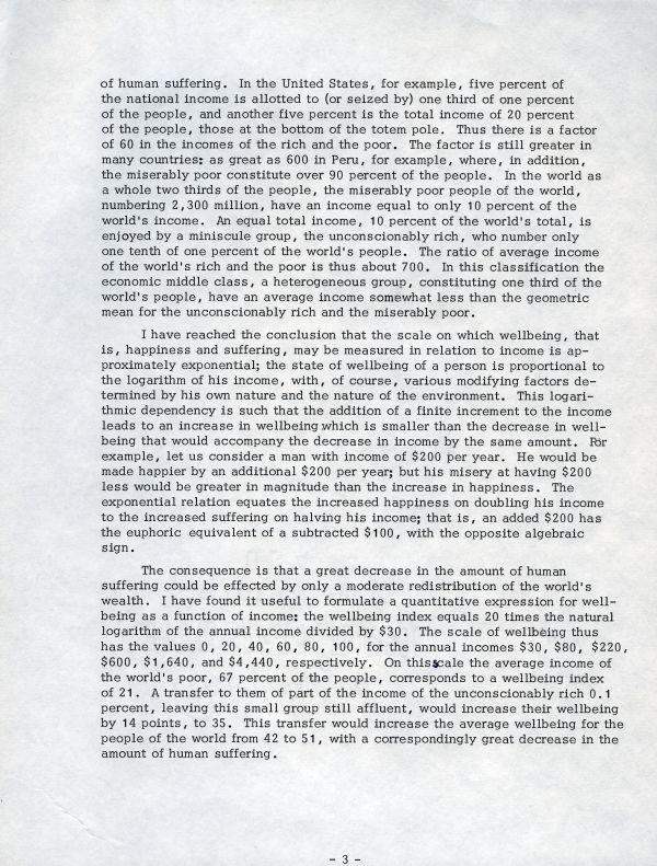 """""""The Possibilities for Social Progress""""Page 3. August 4, 1969"""