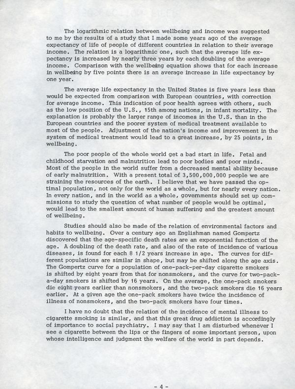 """""""The Possibilities for Social Progress""""Page 4. August 4, 1969"""