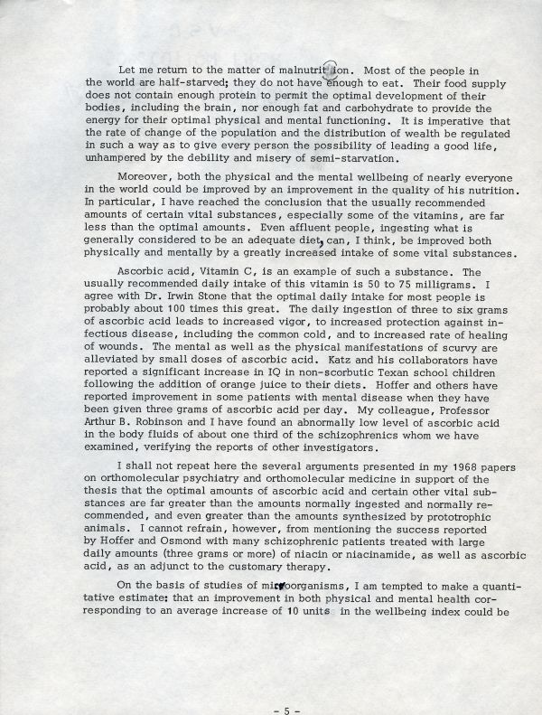 """""""The Possibilities for Social Progress""""Page 5. August 4, 1969"""