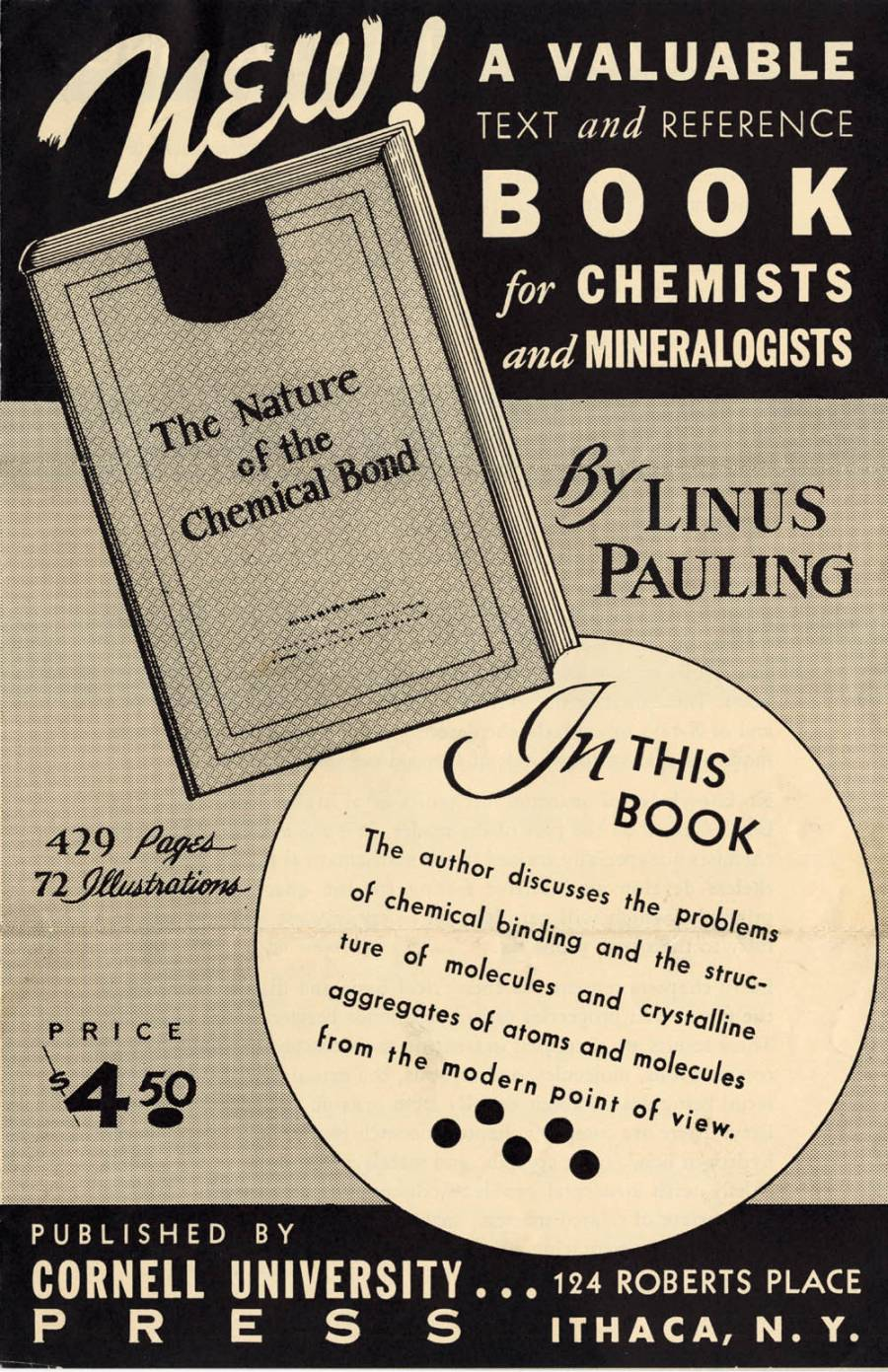 Advertisement for The Nature of the Chemical Bond.