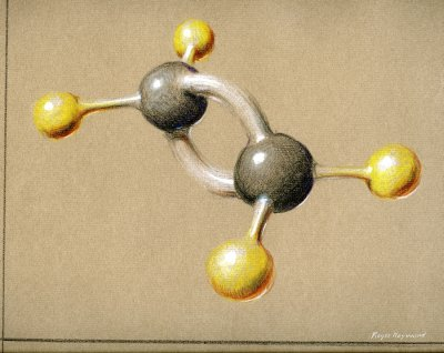 Pastel drawing of Ethylene. Page 1. 1964