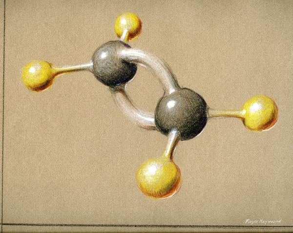 Pastel drawing of Ethylene.