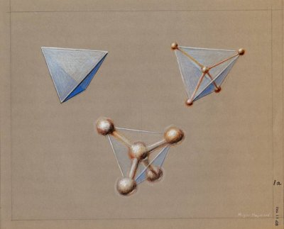 Pastel drawing of Methane. Page 1. 1964