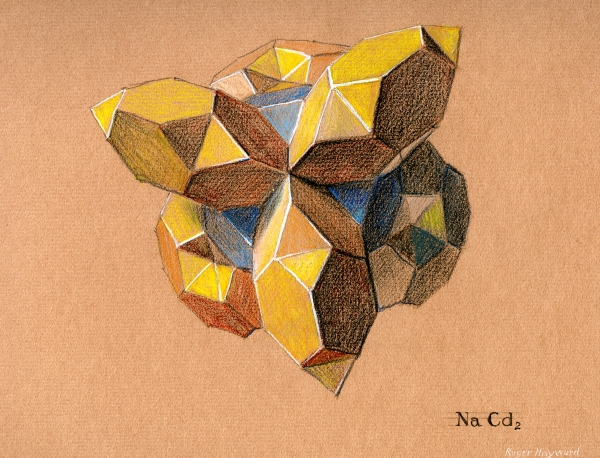 Pastel drawing of Sodium Dicadmide.