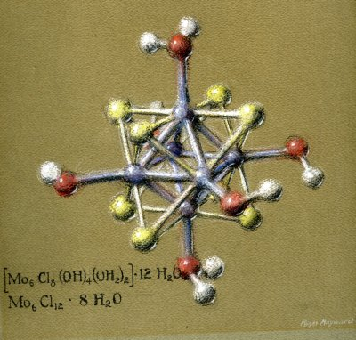 Pastel drawing of a compound of Molybdenum Dichloride. Page 1. 1964