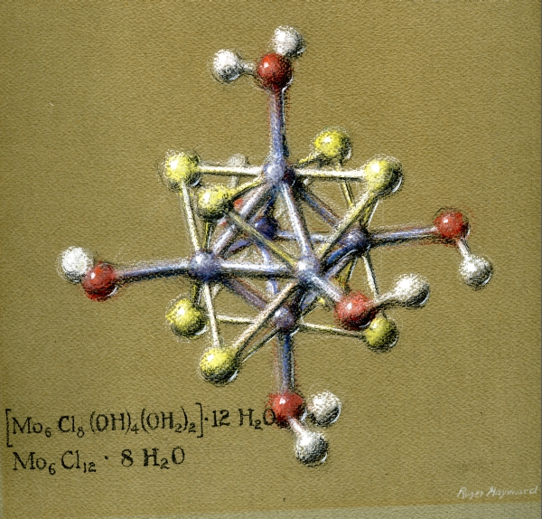 Pastel drawing of a compound of Molybdenum Dichloride.