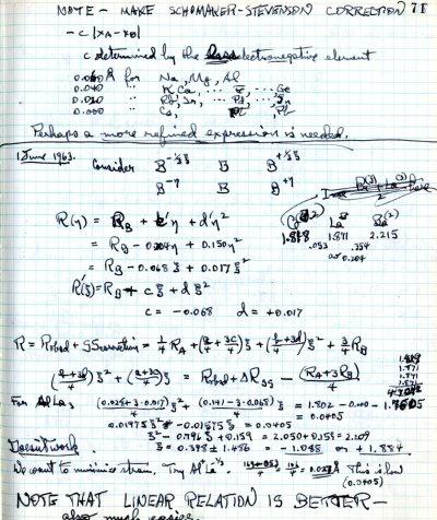 Notes re: Schomaker-Stevenson CorrectionPage 1. June 1, 1963