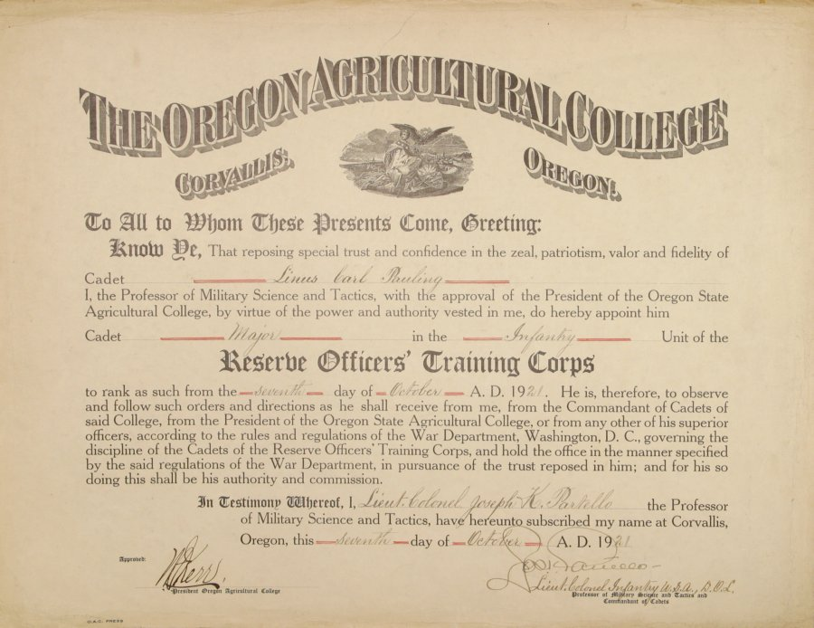 Reserve Officers\' Training Corps, Certificate of Appointment to the ...