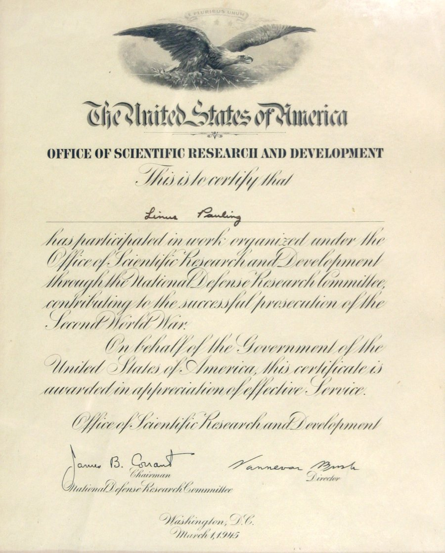 National defense research committee certificate of recognition certificate 1betcityfo Images