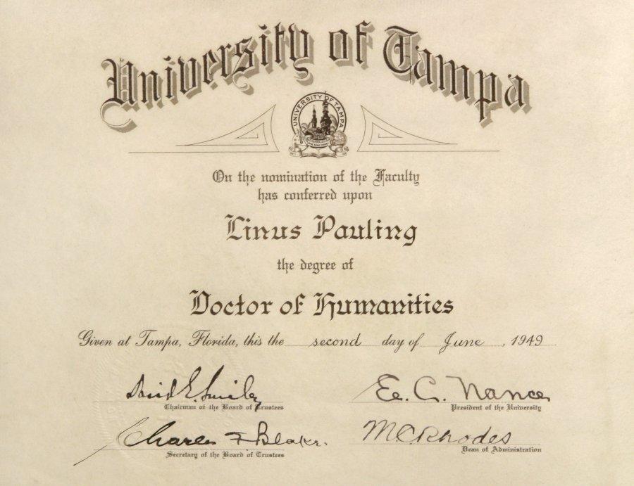 certificate of doctor