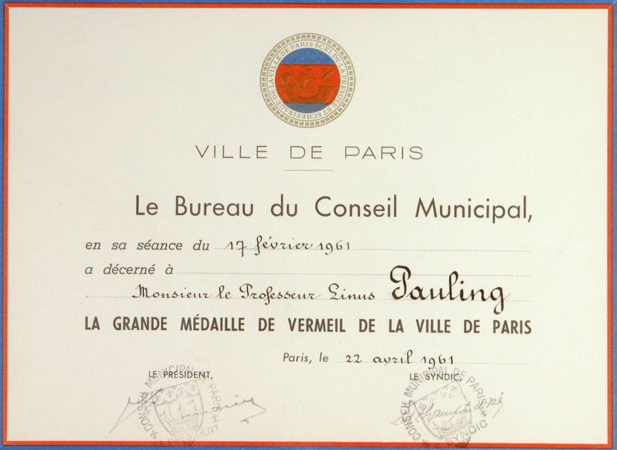 Medaille Bronze Ville De Paris