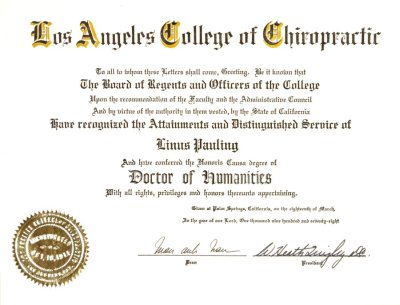 Chiropractic all college subjects