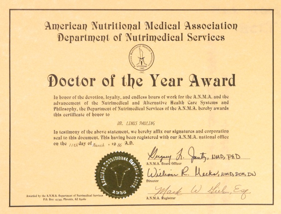 American Nutritional Medical Association Department of ...