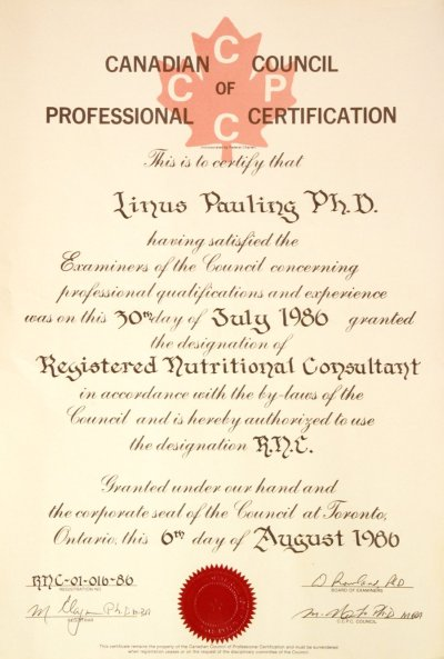 Canadian Council of Professional Certification, Registered ...