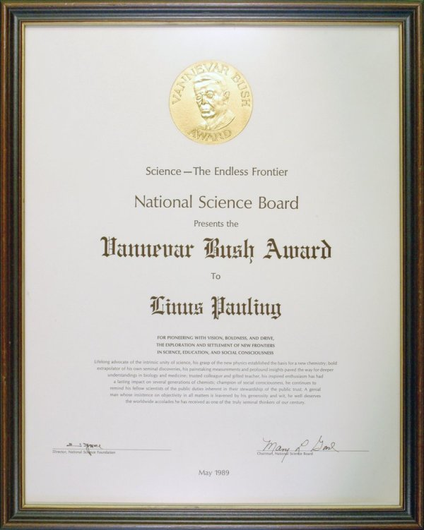 Vannevar Bush Award.