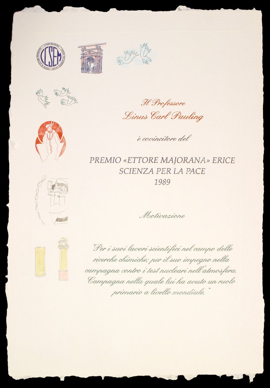 Center For Scientific Culture Premio Ettore Majorana Erice