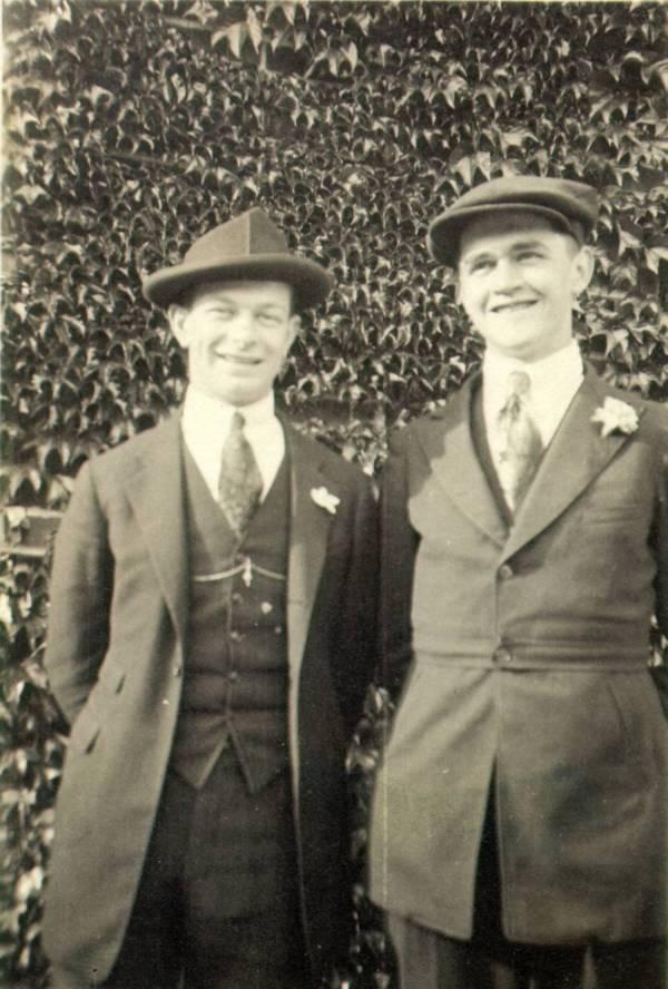 Linus Pauling and his friend Paul Emmett.