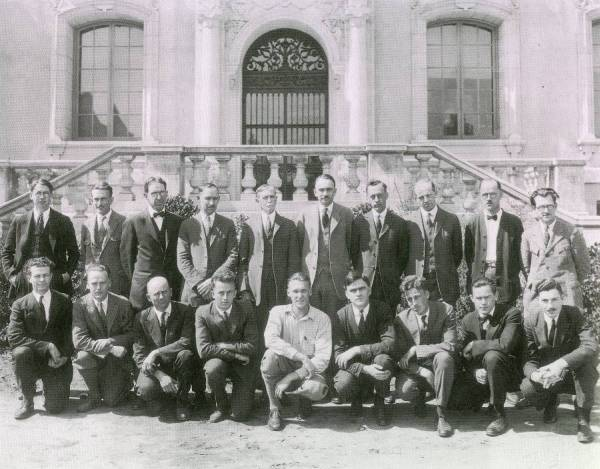 Group Photo of Chemistry Staff, California Institute of Technology.