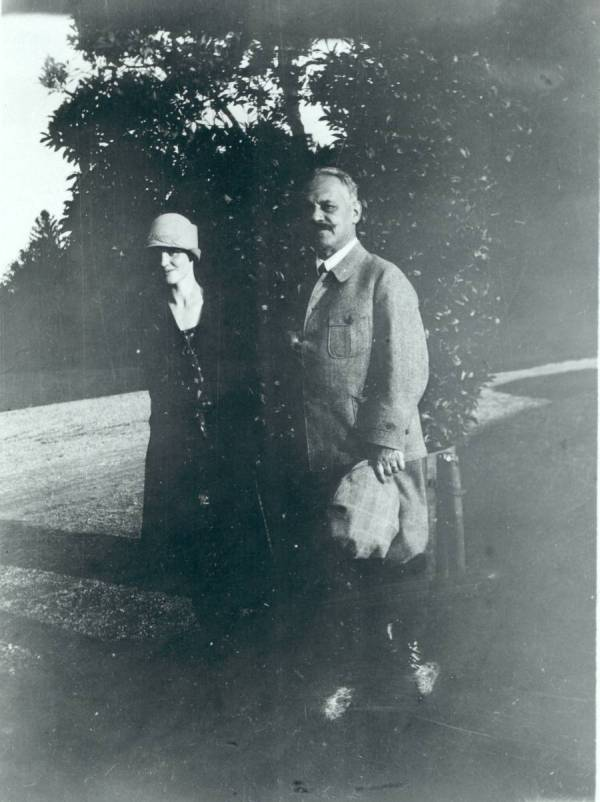 Arnold Sommerfeld and Ava Helen Pauling in Munich, Germany.