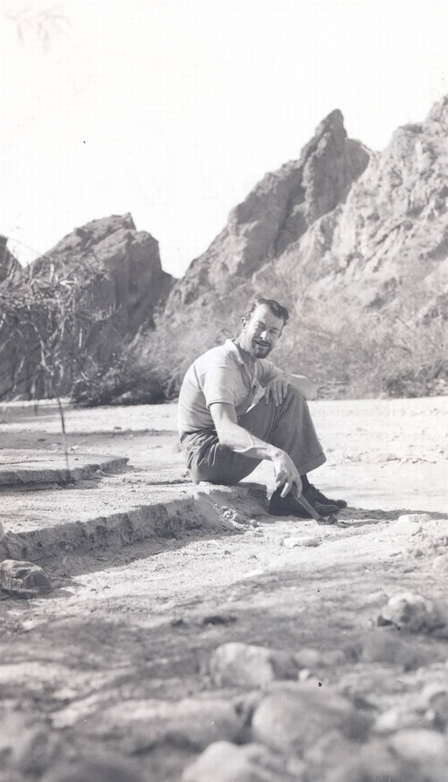 Linus Pauling, in Painted Canyon, California.