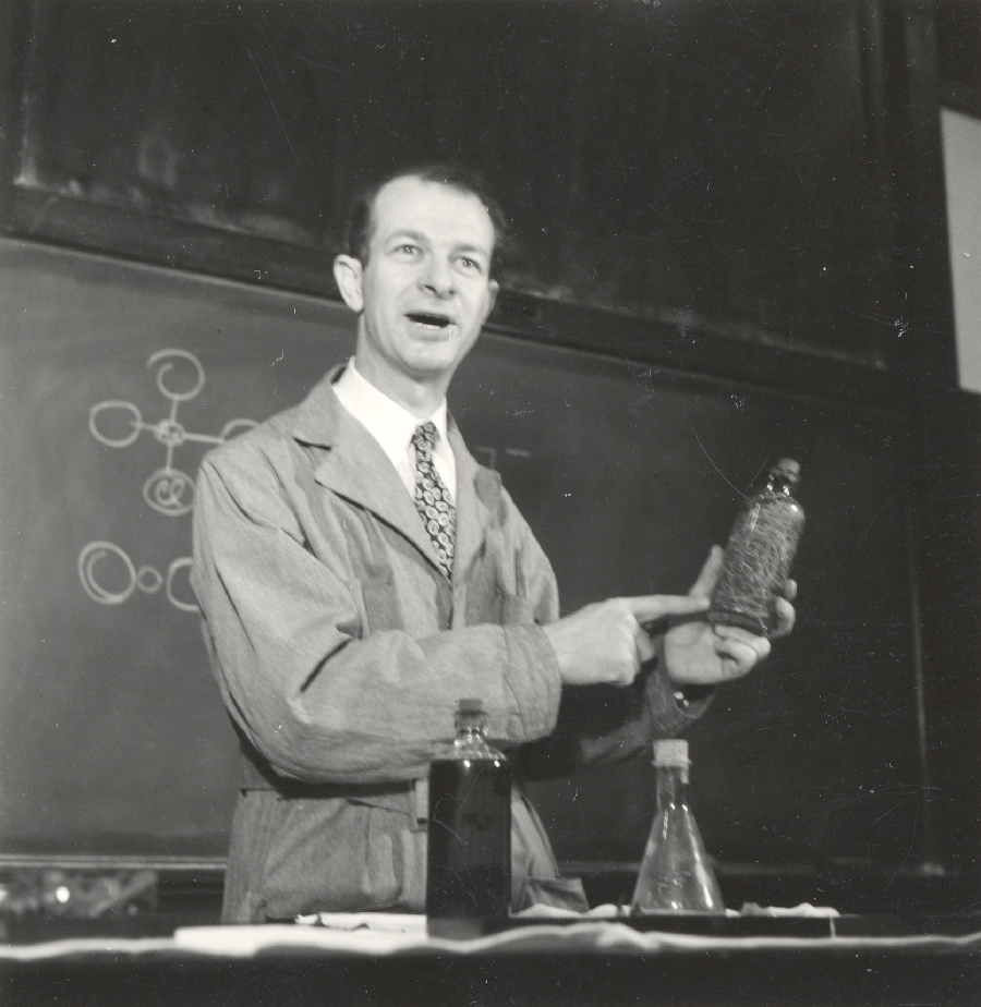 Linus Pauling, in lecture at California Institute of Technology.