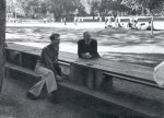 Linus Pauling and Edwin Buchanan at a Caltech Chemistry Department picnic, San Dimas Park.