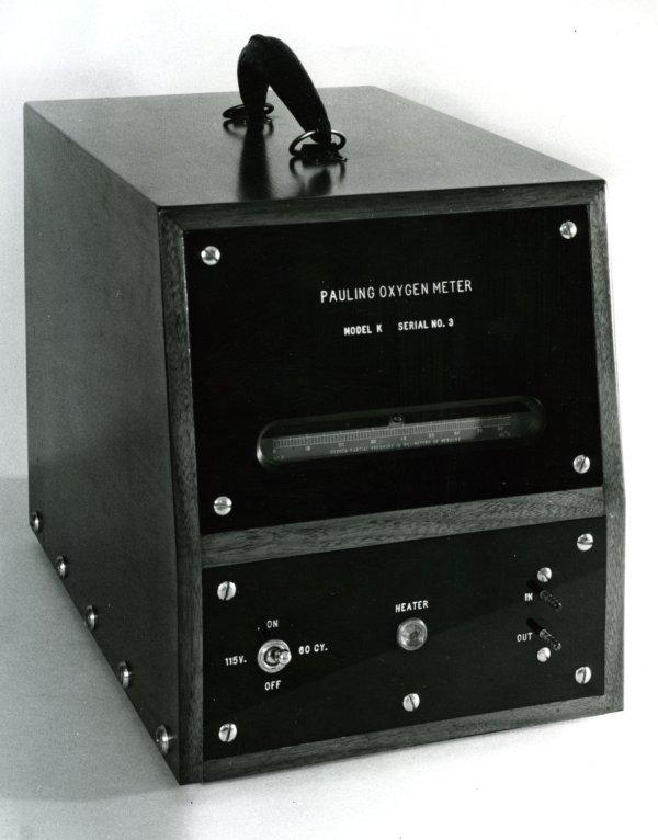 The Pauling Oxygen Meter, Model K, Serial No. 3.