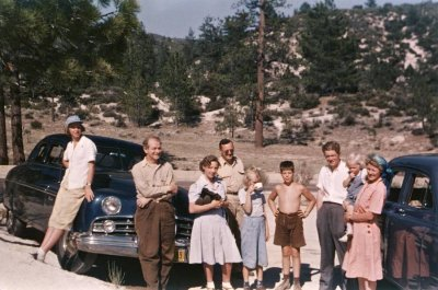 Members of the Pauling family and the Nieman family, Charleton Flats, California. Picture. 1948