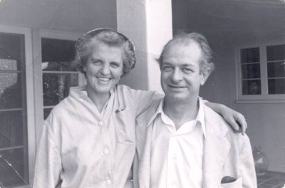 Ava Helen and Linus Pauling. Picture. 1950
