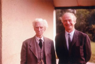 Bertrand Russell and Linus Pauling, London England. Picture. 1953